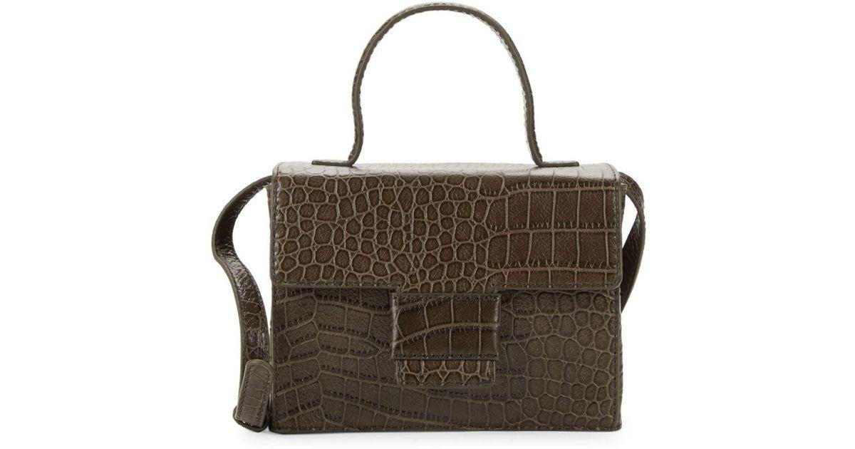 ed3c3cf3b482 Lyst - Steven Alan Classic Embossed Leather Crossbody Bag in Brown