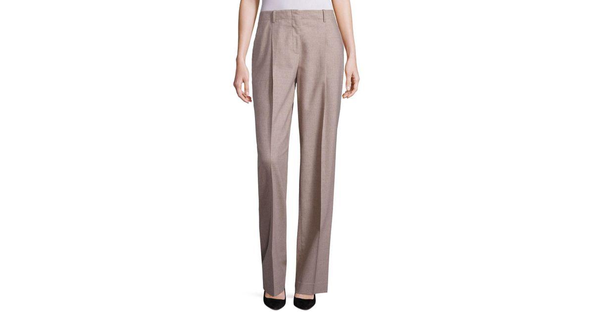 9034cf0eb5 Lafayette 148 New York Rivington Finite Italian Flannel Wide-leg Pants -  Lyst