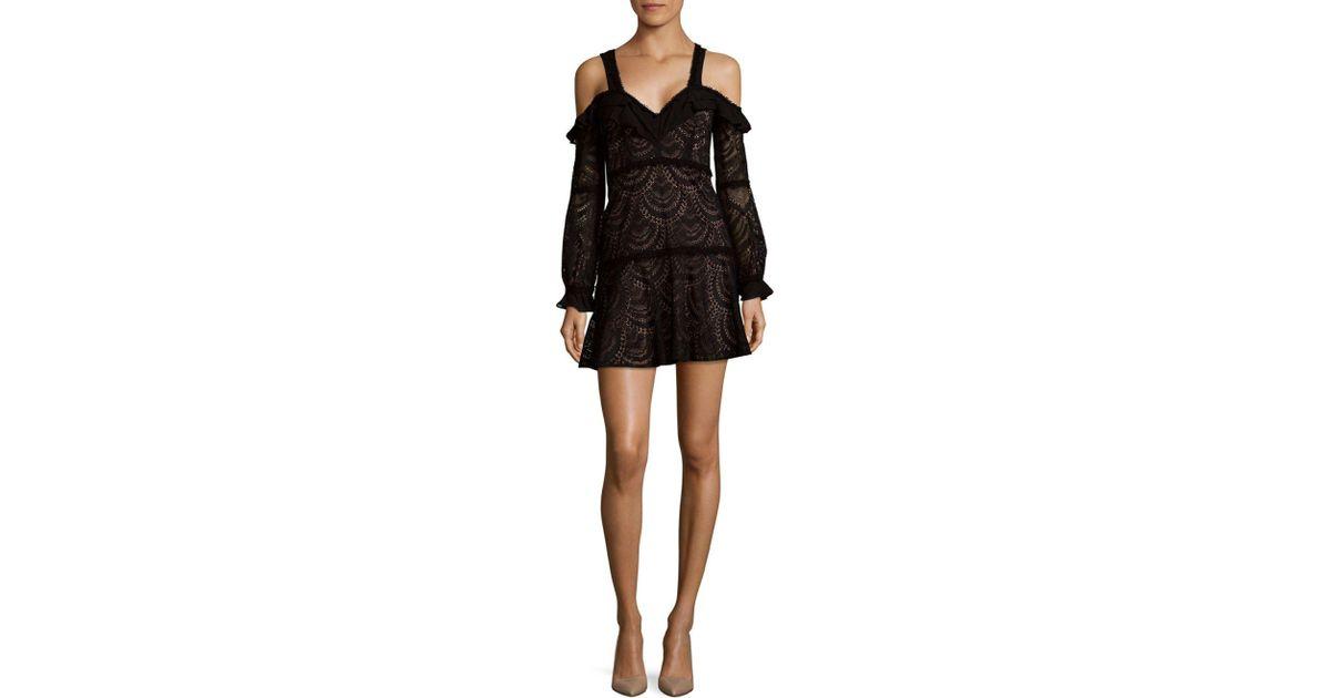 f6631024c For Love   Lemons Bridget Cold-shoulder Mini Dress in Black - Lyst