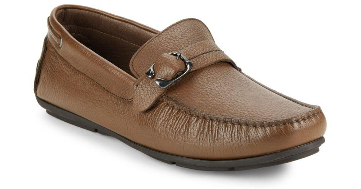0079d0bf285f Lyst - Bacco Bucci Polis Leather Loafers in Brown for Men