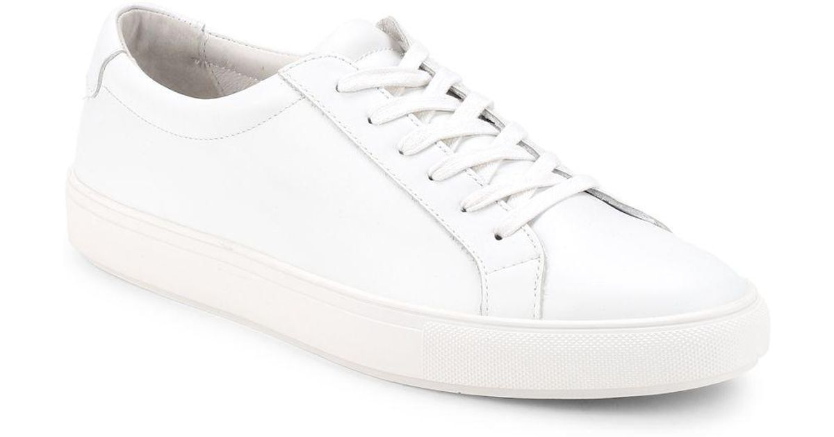 4cfa8aebe0770 Lyst - Sam Edelman Charles Low-top Leather Sneakers in White