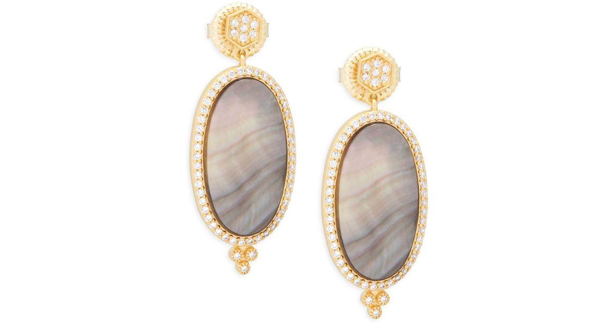 Freida Rothman Pave Crystal Teardrop Dangle Earrings zlQmJ2kKc2