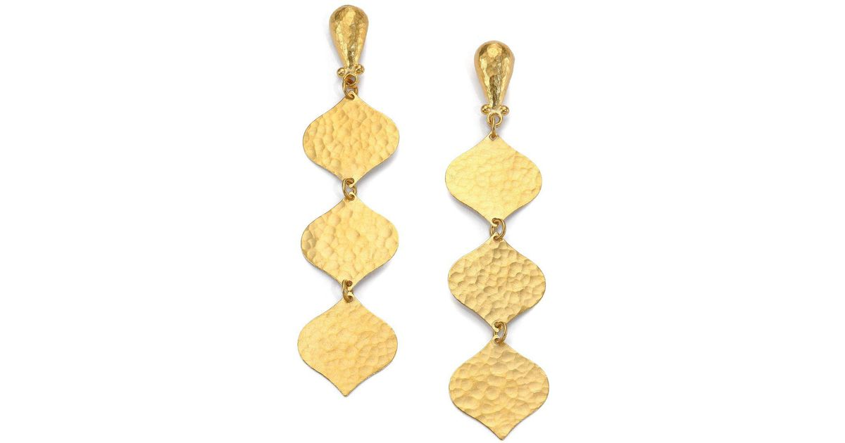 Gurhan 24k Triple-Drop Clove Flake Earrings A46g4bhJyK