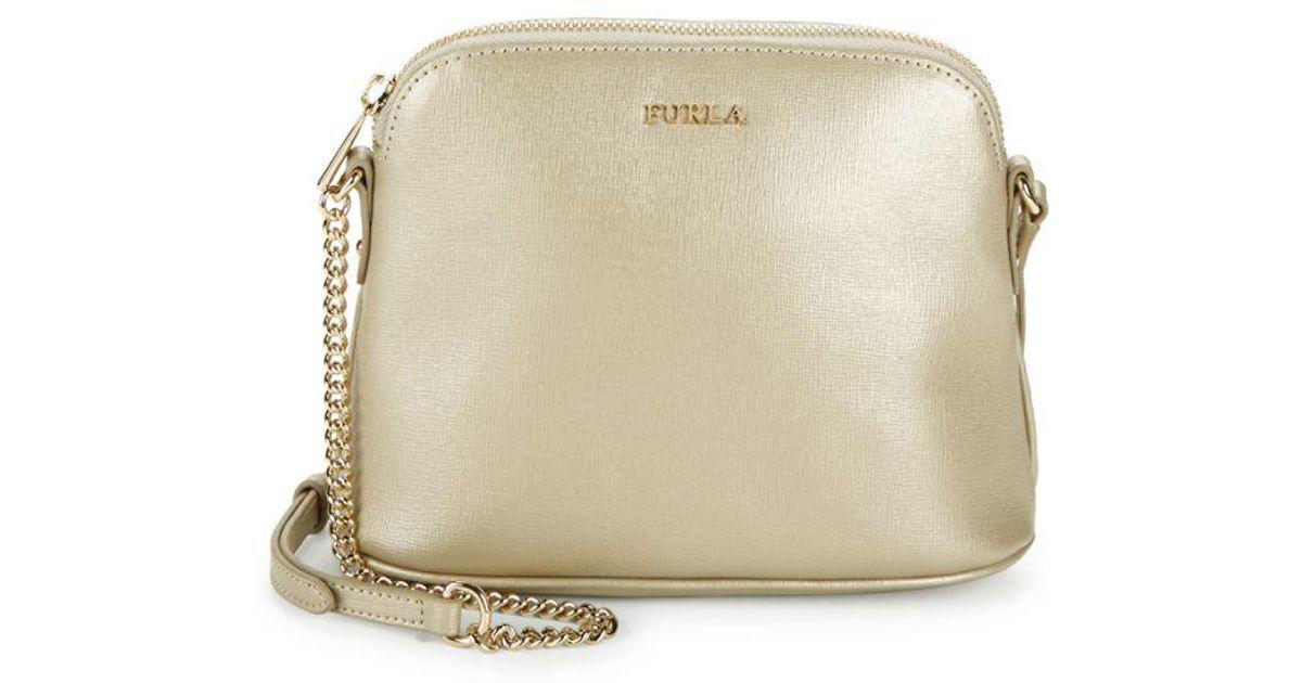 Lyst - Furla Miky Leather Crossbody Pouch Bag in Metallic cbdda6acc2e4b