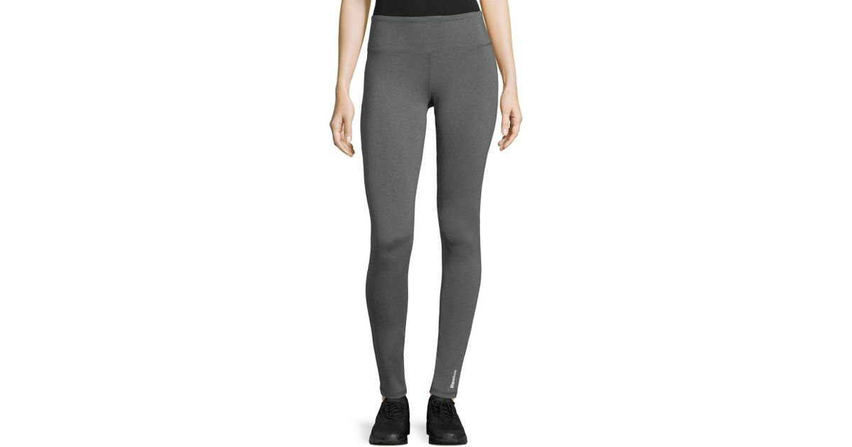 a33c91e9901feb Lyst - Reebok Quick Tight Branded Leggings in Gray