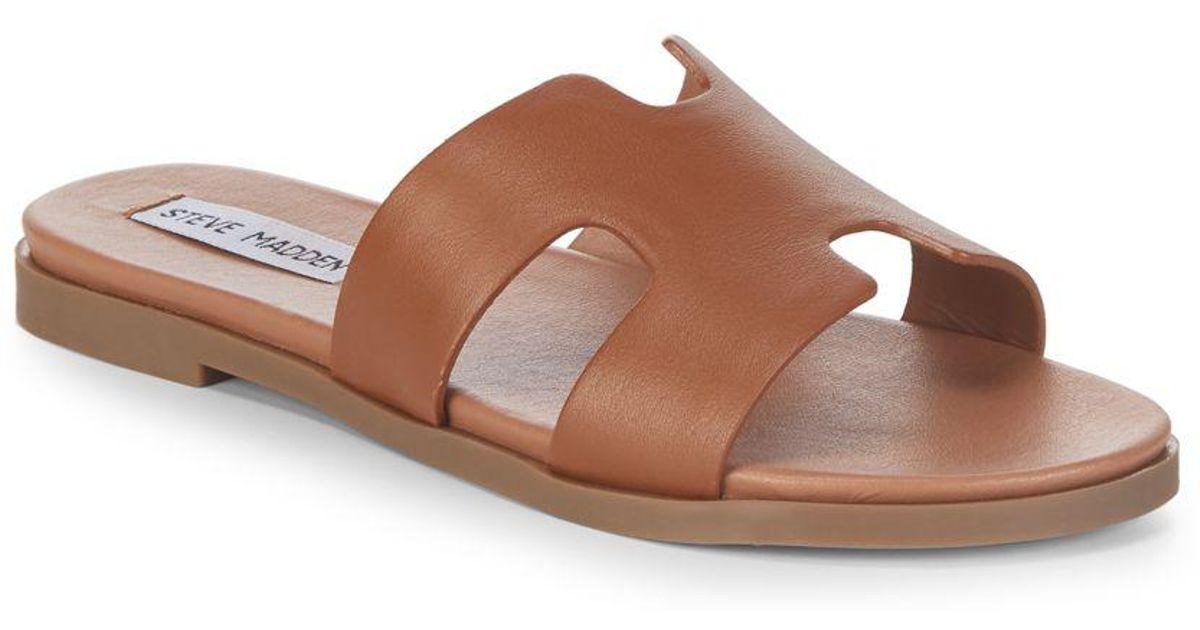 d401899acaa Lyst - Steve Madden Dariella Leather Sandals in Brown