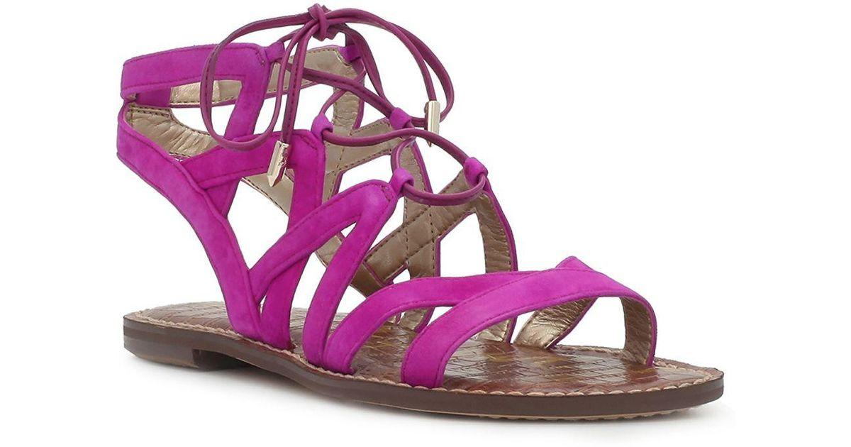 dac02fab6c0 Lyst - Sam Edelman Gemma Sandal Fuchsia Suede in Purple - Save 2%