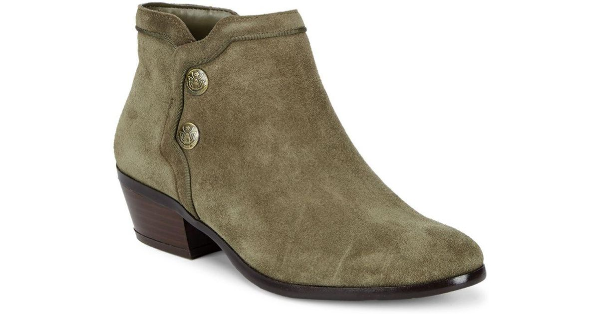 a1c8030c5 Lyst - Sam Edelman Pacer Suede Booties in Green