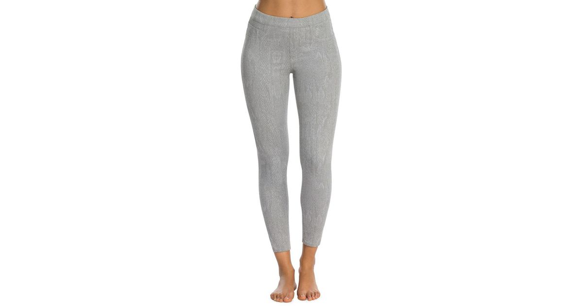 dc3656e6a7a Lyst - Spanx Shaping Jean-ish Ankle Leggings in Gray