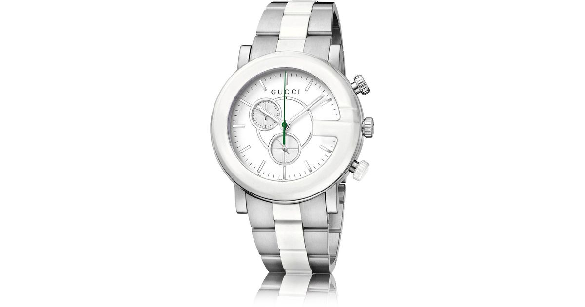 2dda17d9793 Lyst - Gucci G-chrono Collection Ceramic   Stainless Steel Watch in Metallic