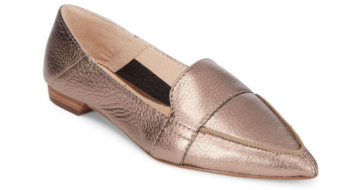 76acd7890a1a Lyst - Vince Camuto Maita Casual Leather Flats in Metallic