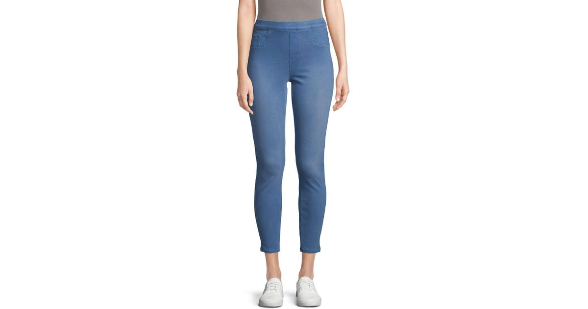 d1c2e9b5f253c Spanx Shaping Jean-ish Ankle Leggings in Blue - Lyst