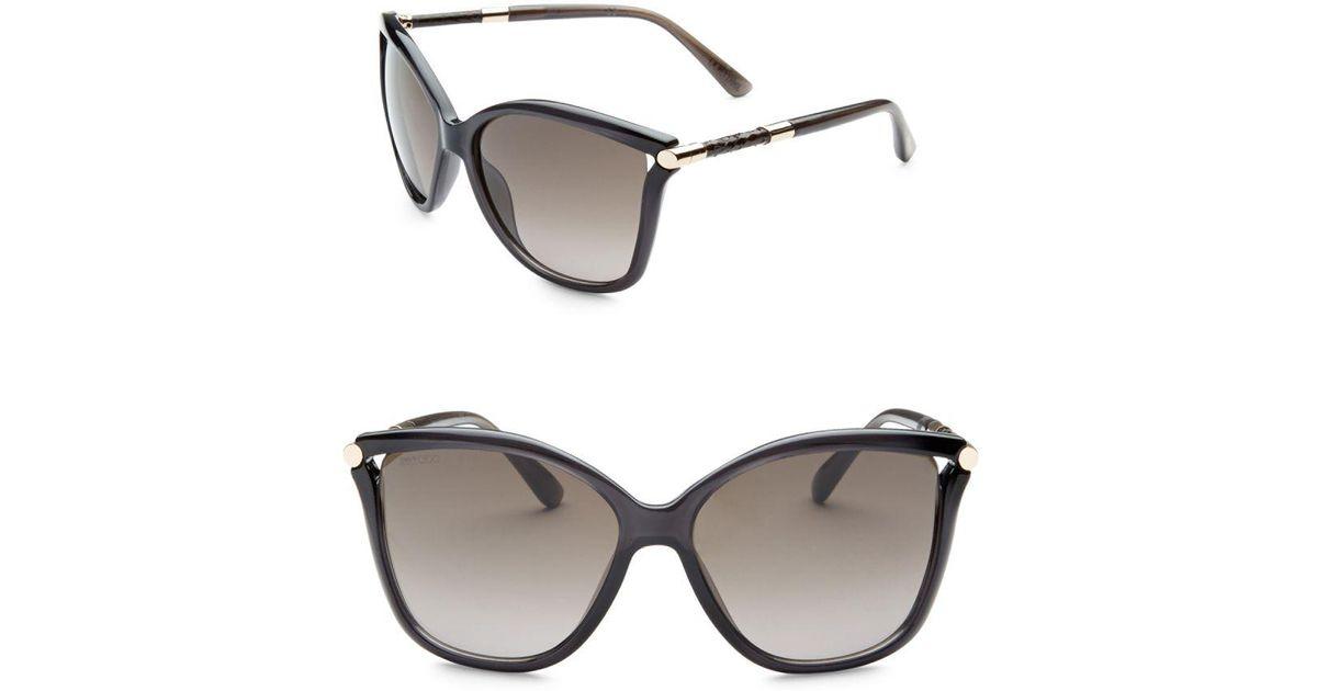 56d44f94a01 Lyst - Jimmy Choo Tatti 58mm Oversized Square Sunglasses in Gray