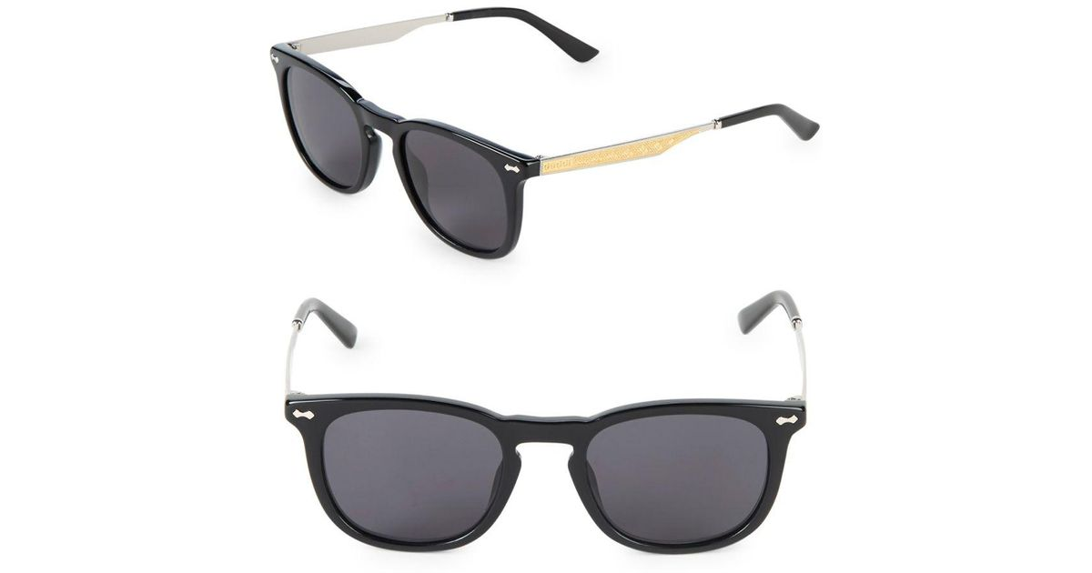 ba9590448743f Lyst - Gucci 49mm Square Sunglasses in Black