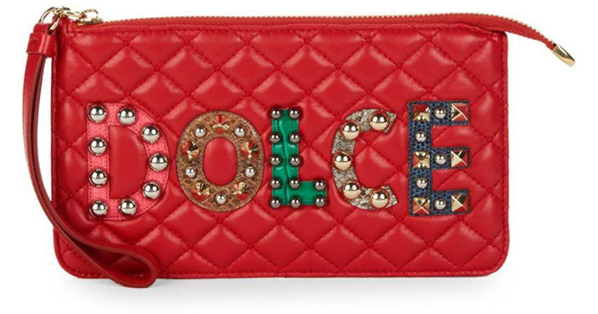 Dolce & Gabbana logo studded quilted purse Clearance Best Wholesale Sale Latest Collections qzzoVHOjr
