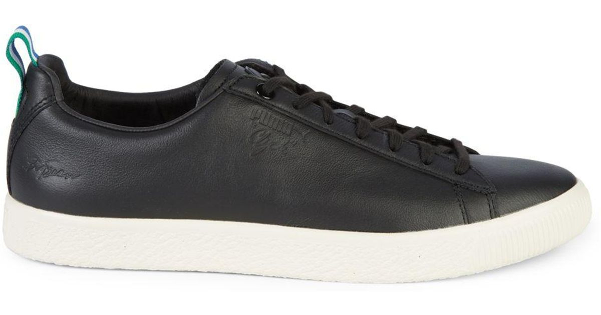 buy popular e9318 ee429 PUMA - Black Big Sean Collection Clyde Leather Sneakers for Men - Lyst