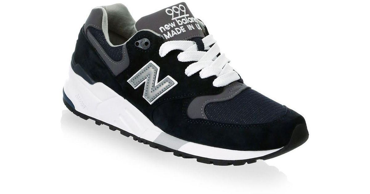 half off 3cac7 d667c New Balance - Gray 999 Suede Mesh Athletic Sneakers - Lyst