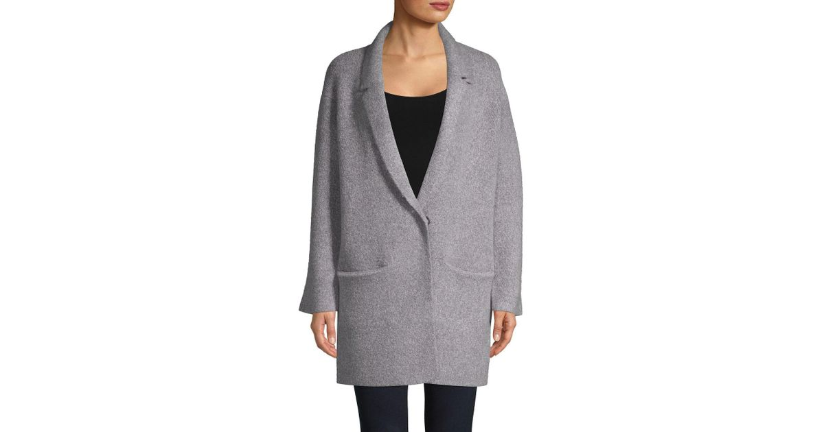 a50a8a674 Lyst - John + Jenn Oversize Sweater Coat in Gray