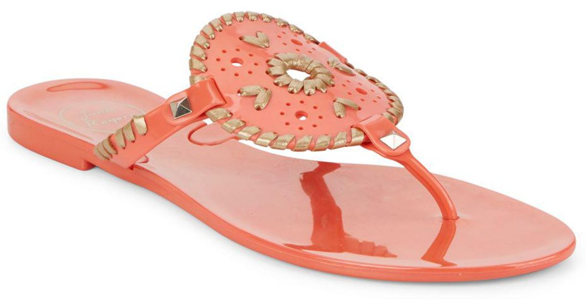 0b322aa201445 Jack Rogers Georgica Jelly Sandals in Pink - Lyst