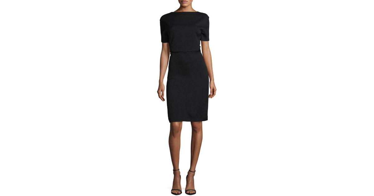 bbd9de5a Balenciaga Semi-fitted Dress in Black - Lyst