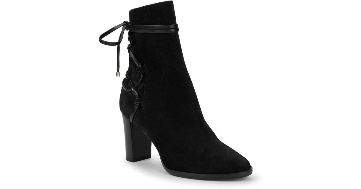 41eb0e28d120 Lyst - Jimmy Choo Hampton 80 Suede Lace-up Boots in Black