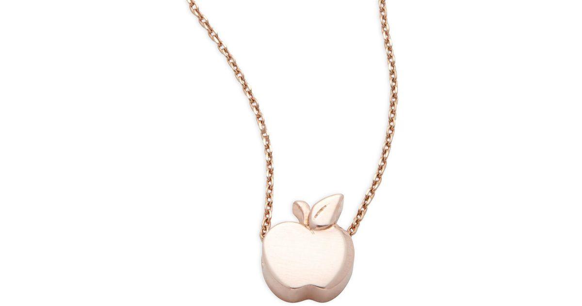 Lyst alex woo little cities 14k rose gold apple pendant necklace lyst alex woo little cities 14k rose gold apple pendant necklace in metallic aloadofball Gallery