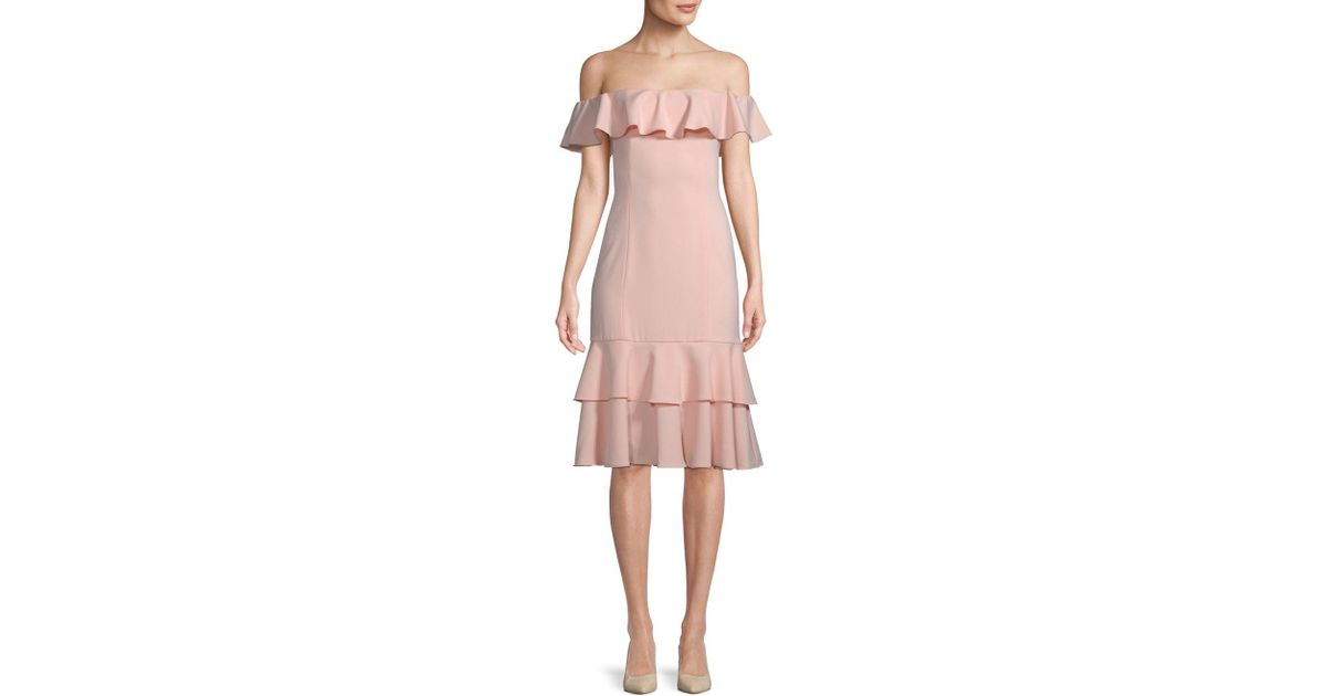 59bdeaa4b607e Lyst - Jay Godfrey Momoa Off-the-shoulder Midi Dress in Pink