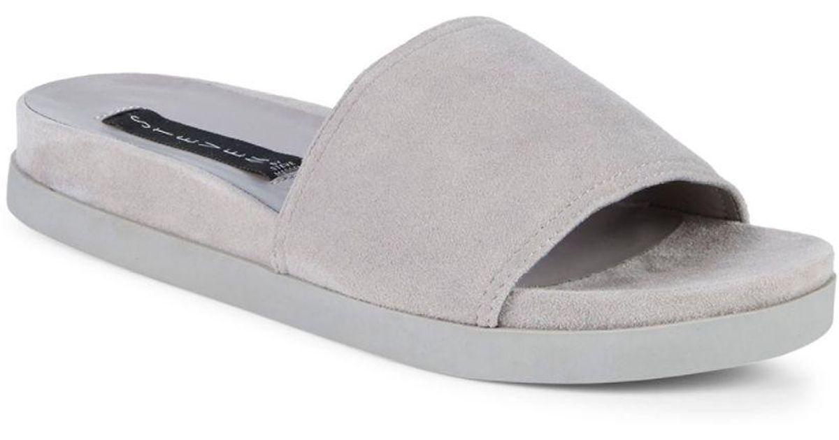 Esmerilda Distressed Foil Suede Sandals QDW3E5