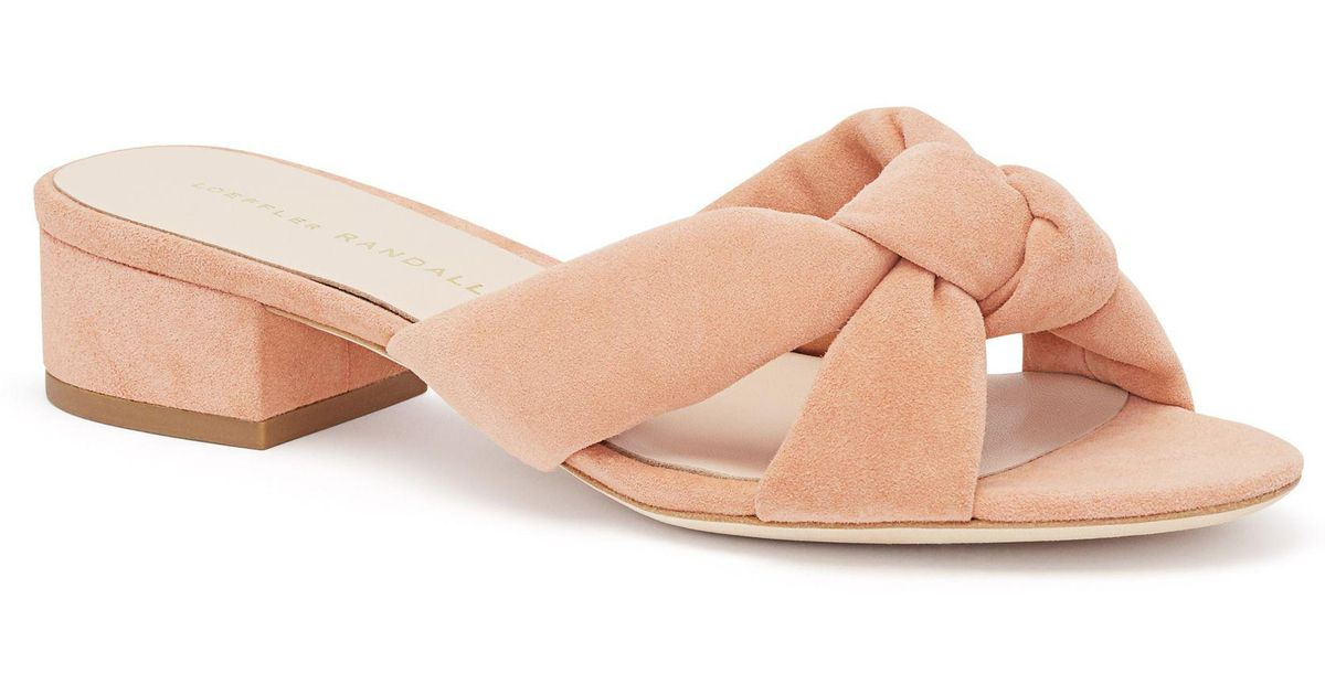 Elsie Knotted Suede Sandals - Pink Loeffler Randall Manchester Great Sale Sale Online Buy Cheap Sneakernews Cheap Price Fake Browse For Sale 3K63nbp8h