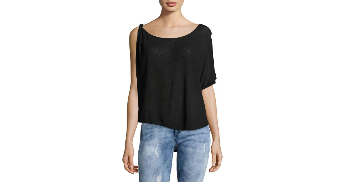 764a6f0d3e0897 Lyst - Free People Pluto One-shoulder Top in Black