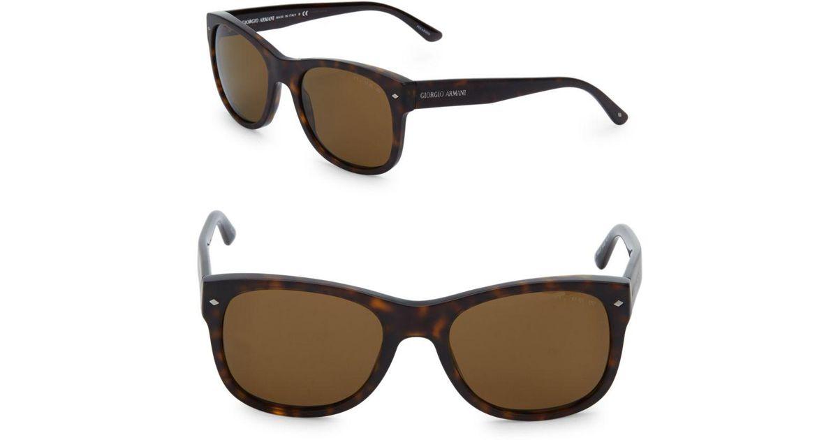 c67b9775c6a Lyst - Giorgio Armani 54mm Tortoise Shell Sunglasses in Brown