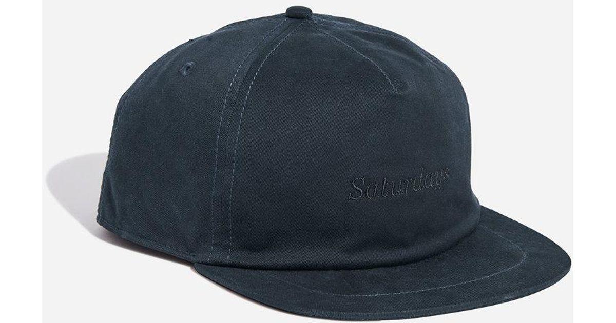 Lyst - Saturdays NYC Stanley Italics Hat in Blue for Men a7ef8f5909b0