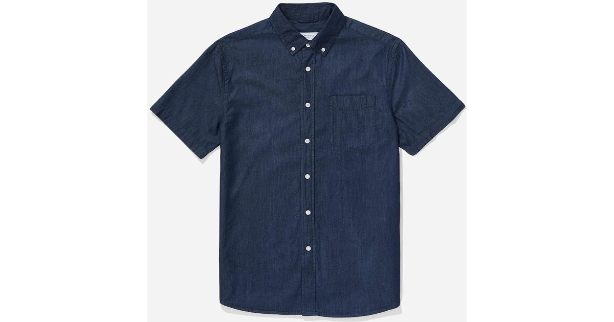015b871f93 Lyst - Saturdays Nyc Esquina Button Down Denim Shirt in Blue for Men