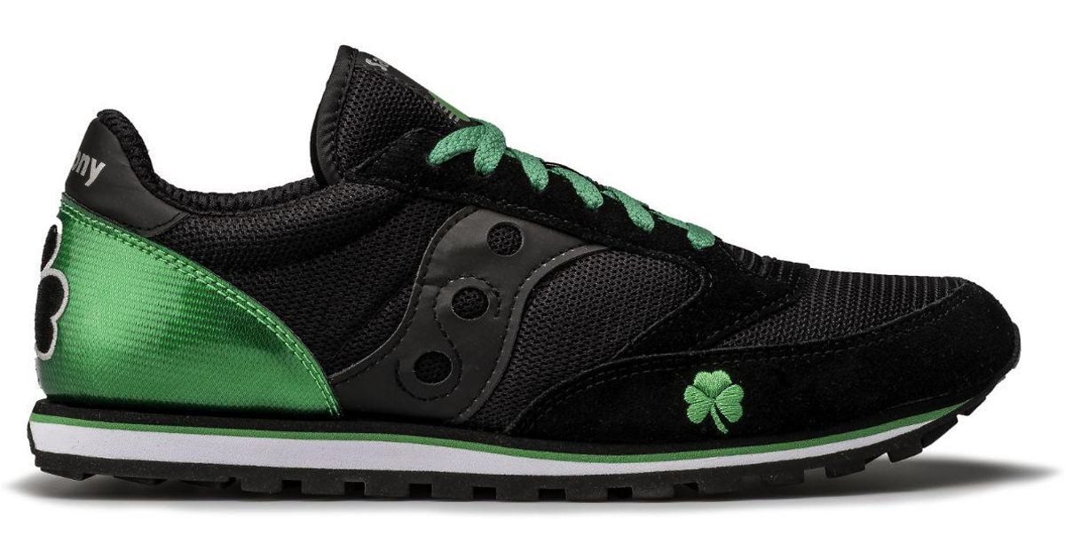 cdb07e87c58b Lyst - Saucony Shamrock Jazz Low Pro in Black for Men
