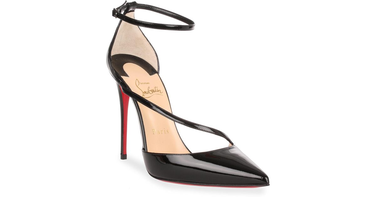 Christian Louboutin Fliketta 85 Patent Leather d'Orsay Sandals aFLqMpPGV