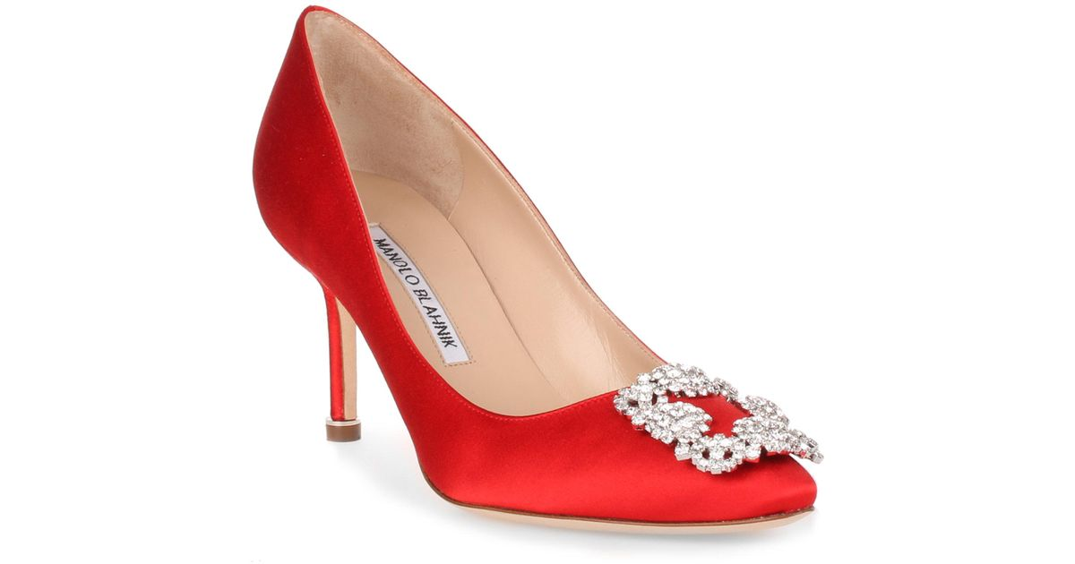 835ce903a ... ireland lyst manolo blahnik hangisi 70 satin pump red in red save  12.435233160621763 35397 d9fd8