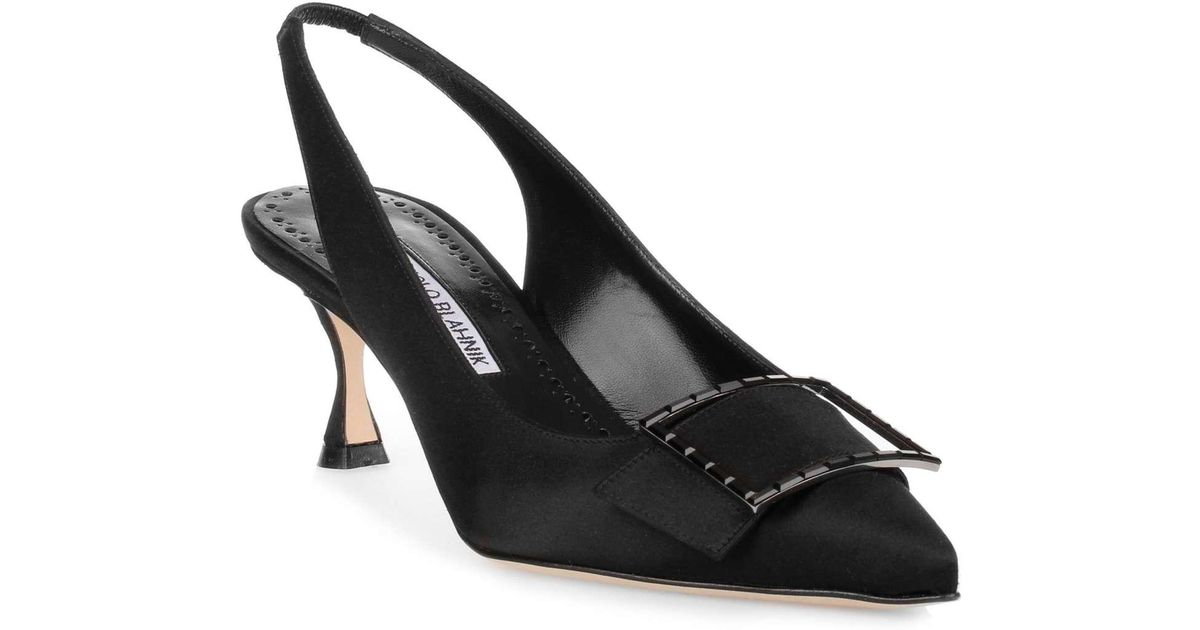 Cheap Factory Outlet Conchita 50 black satin pump Manolo Blahnik Official Site Cheap Online Outlet Locations 1nmp3MBNw