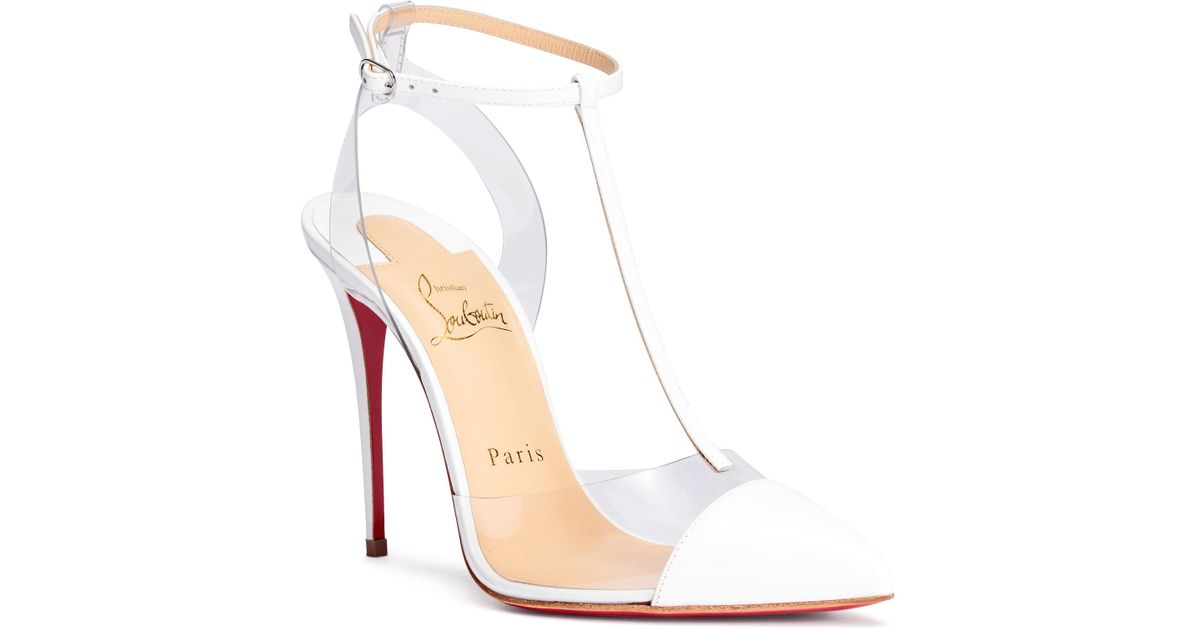393e0bbf66a7 Lyst - Christian Louboutin Nosy 100 Patent White Pumps in White