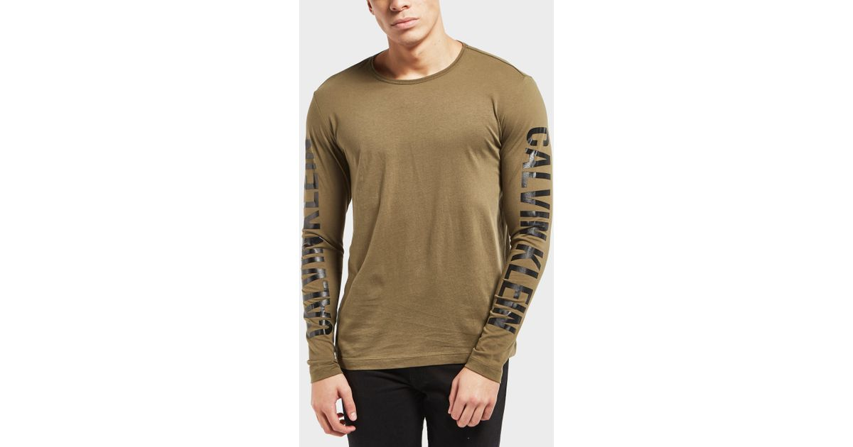 Lyst Calvin Klein Arm Logo Long Sleeve T Shirt For Men