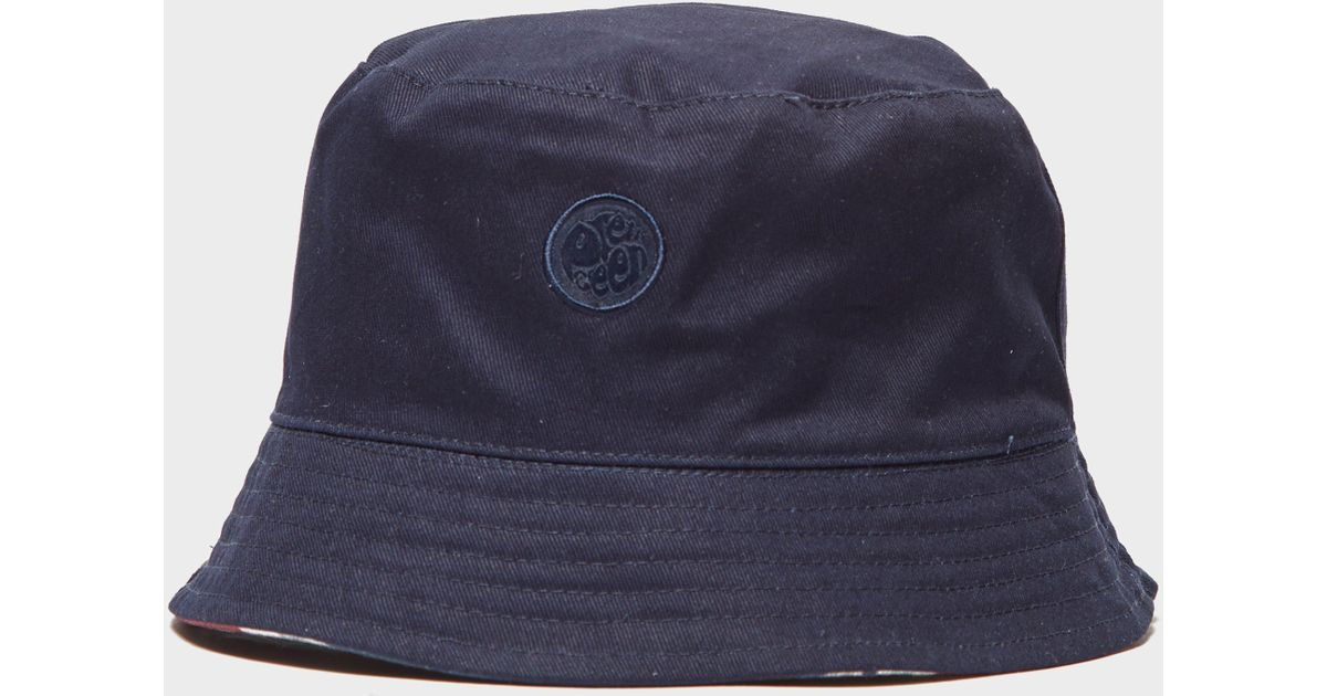 659c619efca Lyst - Pretty Green Union Jack Reversible Bucket Hat in Blue for Men