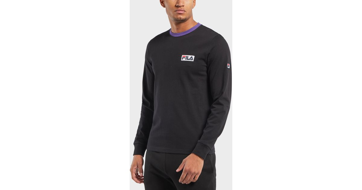 c7a1d5a7 Fila Viso Long Sleeve T-shirt - Exclusive in Black for Men - Lyst
