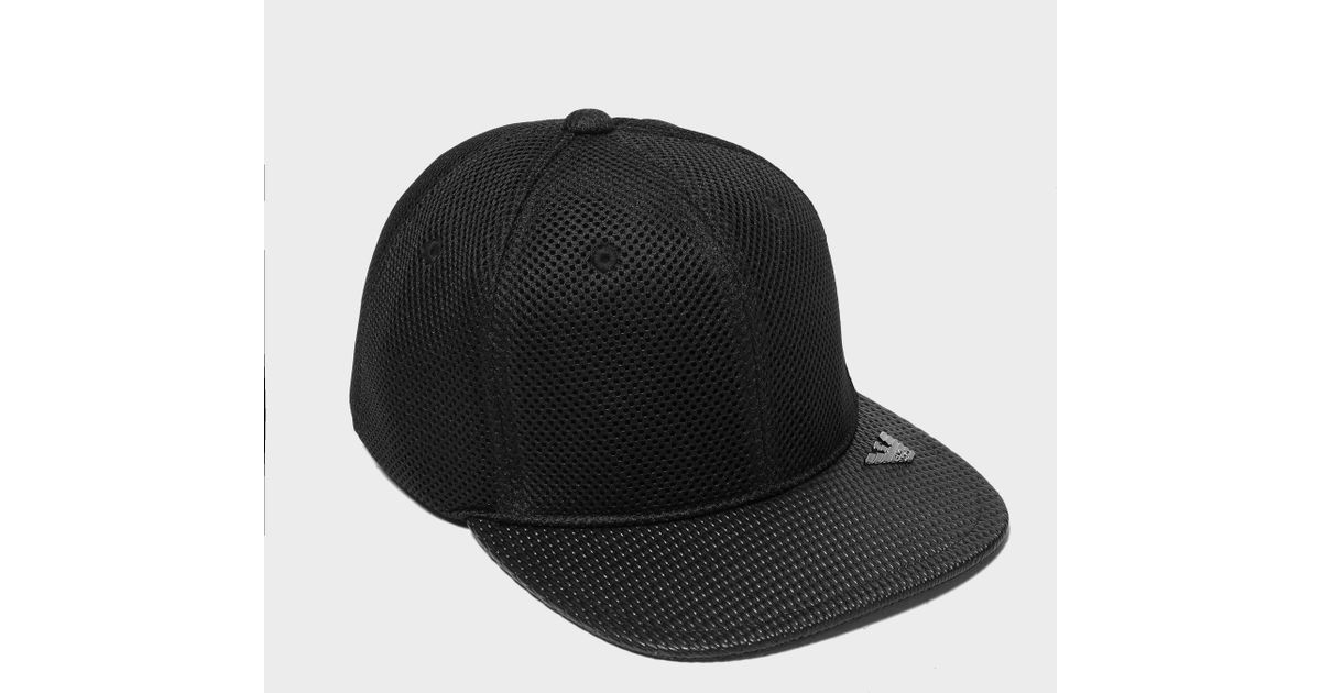 2d5fafc606b Lyst - Armani Jeans Mesh Cap in Black for Men