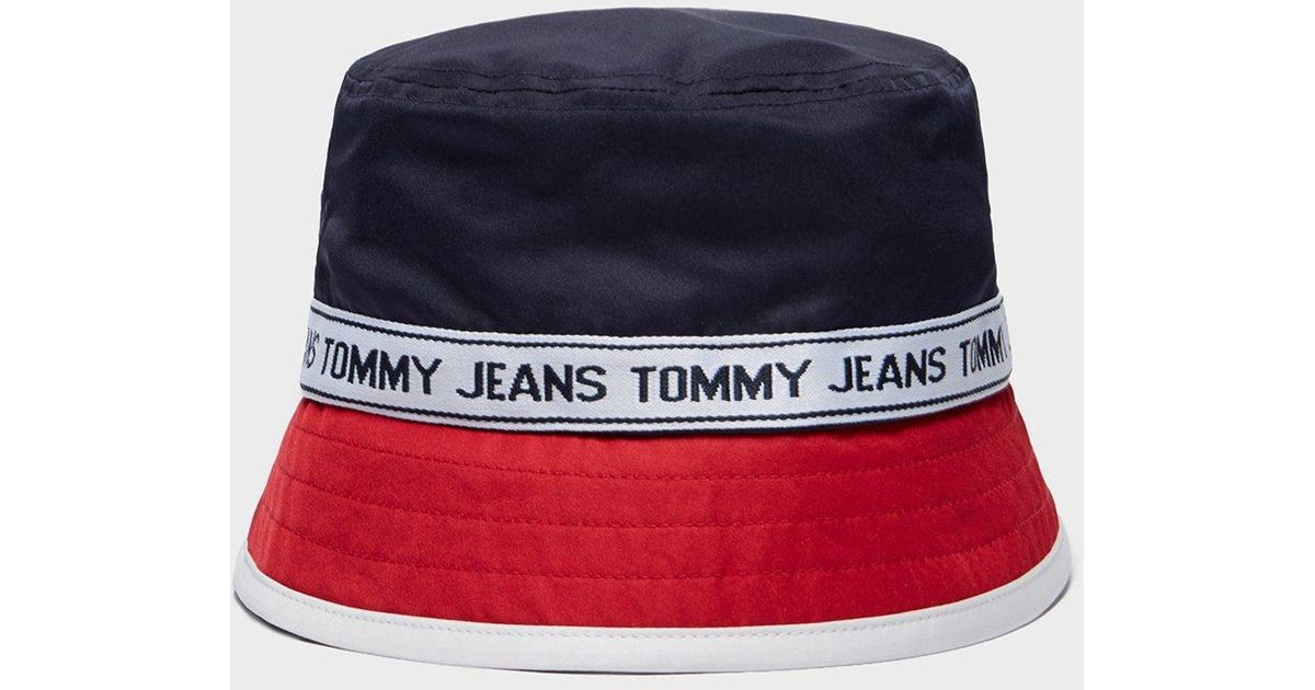 f93d54bcea Tommy Hilfiger Tape Bucket Hat - Online Exclusive for Men - Lyst