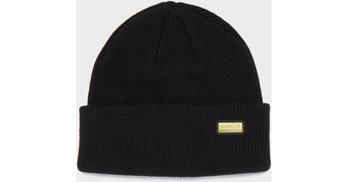6be965a0f07 Barbour International Beanie in Black for Men - Lyst