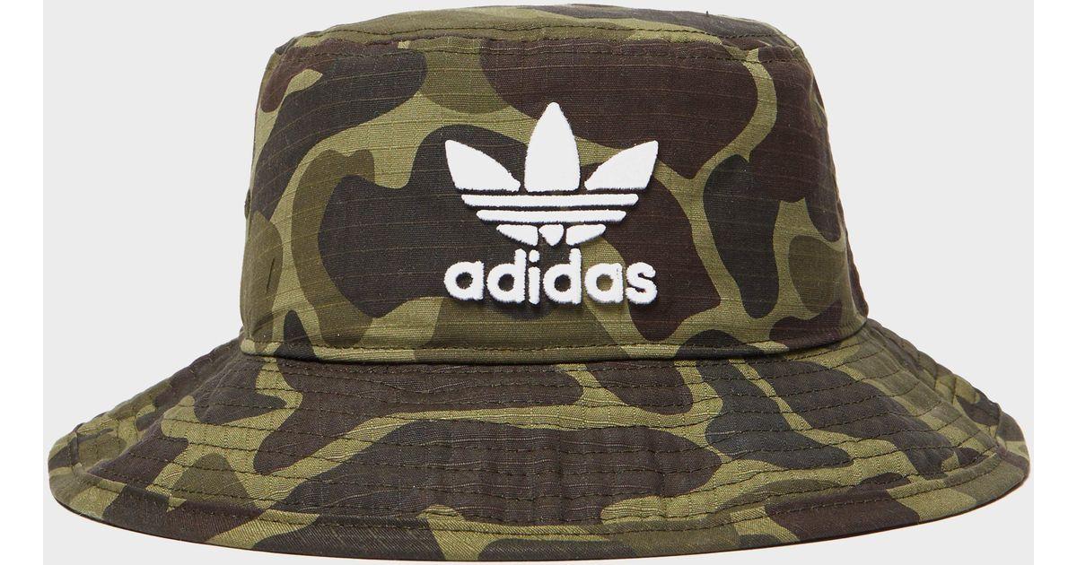 Lyst - adidas Originals Camo Bucket Hat in Green for Men 26219ce0f3c
