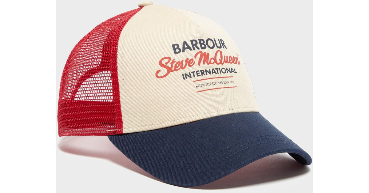 Barbour International Steve Mcqueen Trucker Cap for Men - Lyst 932bbf74c8ef