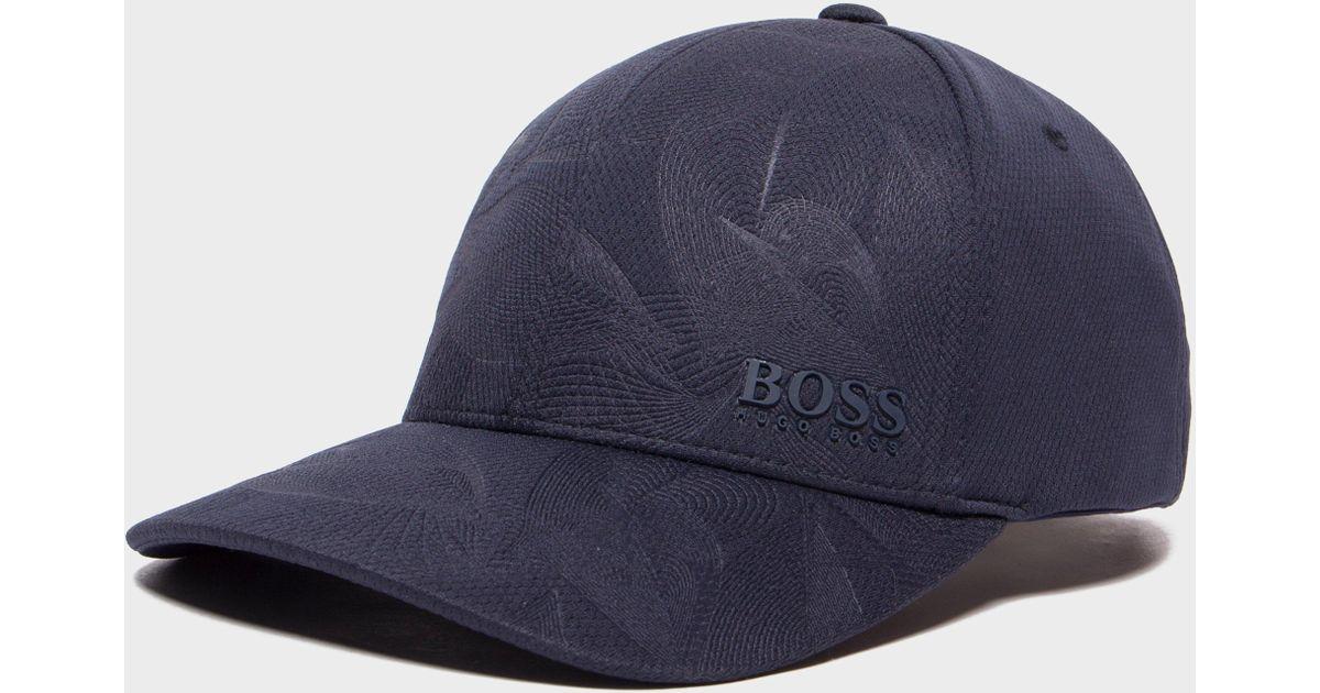 56b47617f41 Lyst - BOSS Poly Print Cap in Blue for Men