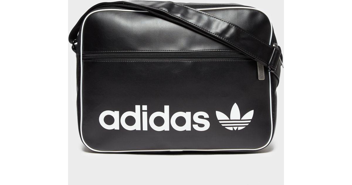 6b3b97d74345 adidas Originals Vintage Airliner Bag - Black in Black for Men - Save 64% -  Lyst