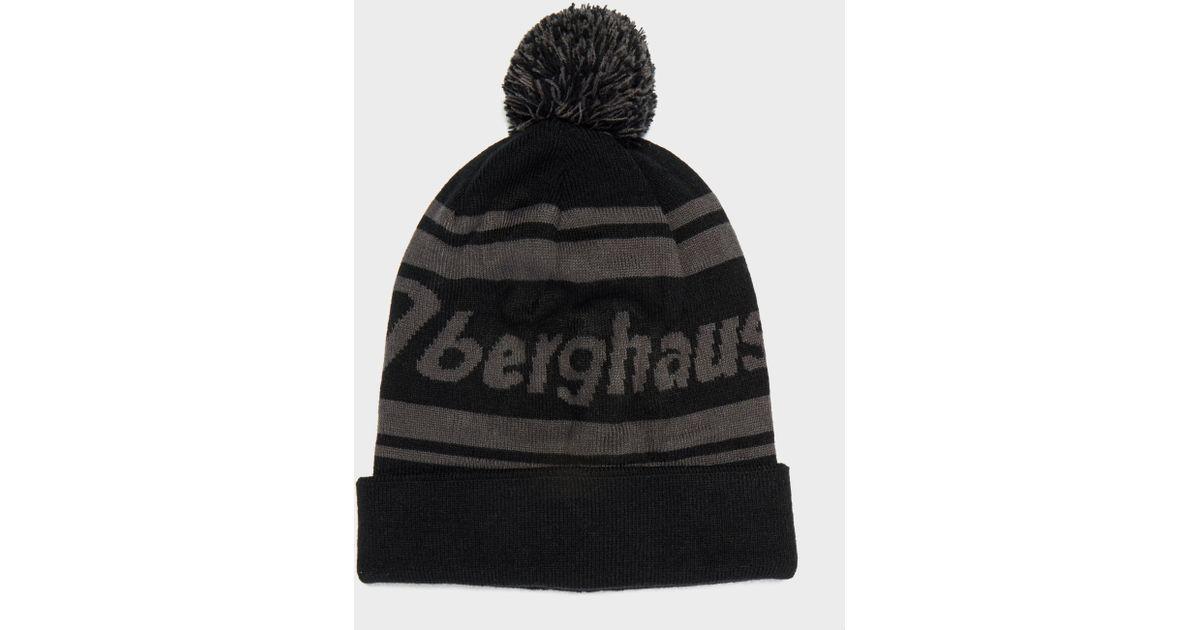 c748ea1f66d Berghaus Bobble Beanie Hat in Black for Men - Lyst