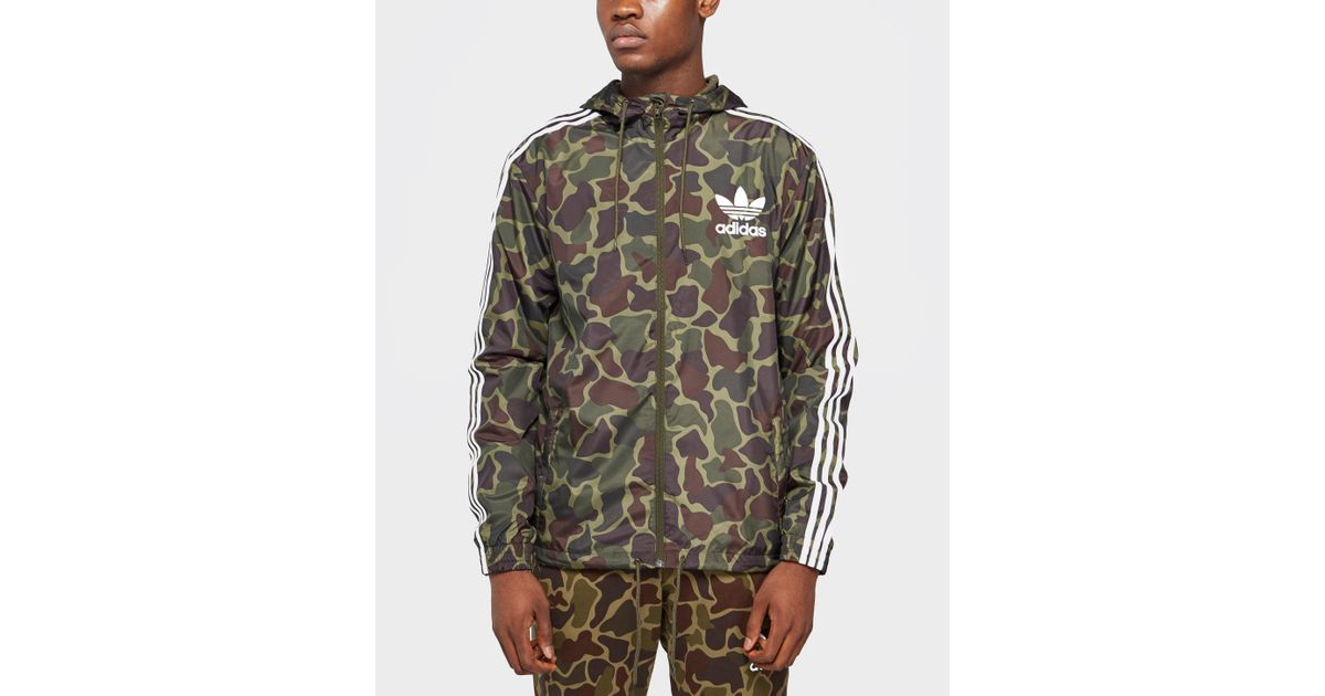 6a1d21633f9e8 adidas Originals Trefoil All Over Print Lightweight Jacket for Men - Lyst